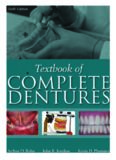 Textbook of Complete Dentures, 6th Edition