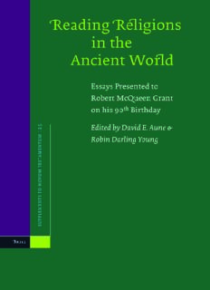 Reading Religions in the Ancient World: Essays Presented to Robert Mcqueen Grant (Supplements to Novum Testamentum)