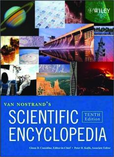 Van Nostrand's Scientific Encyclopedia 10th ed., 3 Volume Set (Van Nostrands Scientific Encyclopedia)