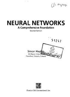 Neural Networks. A Comprehensive Foundation