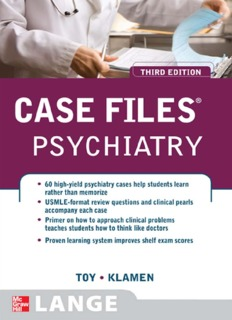 Case Files Psychiatry, Third Edition (LANGE Case Files)