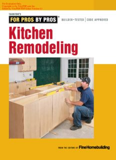 For Pros by Pros  Kitchen Remodeling