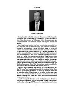 TRIBUTE I am pleased to write this tribute to Professor Jarret Oeltjen, who has retired from the ...