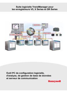 Suite logicielle TrendManager pour les enregistreurs V5, X Series et GR Series Outil PC de ...