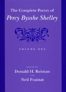 The complete poetry of Percy Bysshe Shelley. / Vol. 1