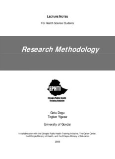 Research Methodology - The Carter Center