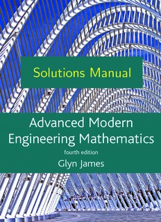 Solutions Manual to Advanced Modern Engineering Mathematics, 4th Edition