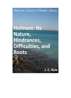 J.C. Ryle Holiness