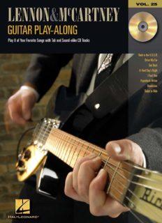 Lennon and McCartney: Guitar Play-Along Volume 25
