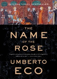 The Name of the Rose (and Postscript to the Name of the Rose)