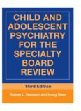 Child and Adolescent Psychiatry for the Specialty Board Review (Brunner Mazel Continuing Education in Psychiatry)
