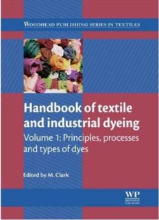 Handbook of Textile and Industrial Dyeing: Volume 1: Principles, Processes and Types of Dyes