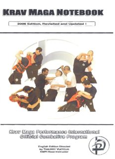 Krav Maga Notebook. Krav Maga Performance International. Official Combative Program
