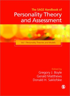 The SAGE Handbook of Personality Theory and Assessment: Personality Theories and Models