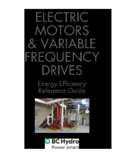 Electric motors and variable frequency drives (VFD)