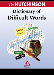 Hutchinson Dictionary of Difficult Words