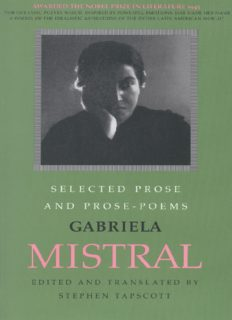 Selected Prose and Prose Poems (LLILAS Translations from Latin America Series) (Spanish Edition)